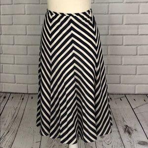 Harold's Cotton/Silk A-Line Stripes Skirt Size 6